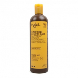 Shampoing au savon d'Alep Bio Cheveux Secs 500ml NAJEL