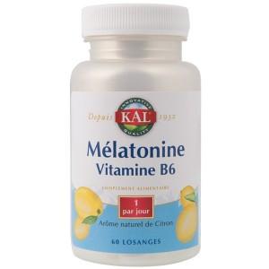 Vente Mélatonine Vitamine B6 60 Comprimés KAL