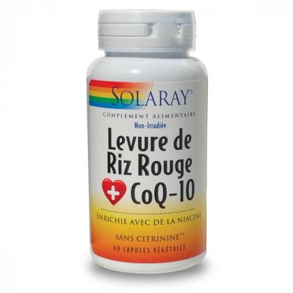 Levure De Riz Rouge + CoQ10 60 Capsules SOLARAY