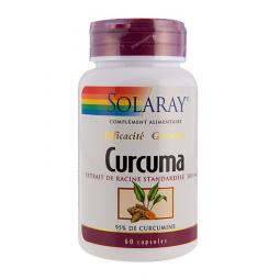 Curcuma Standardisé à 95% De Curcumine 60 Capsules SOLARAY