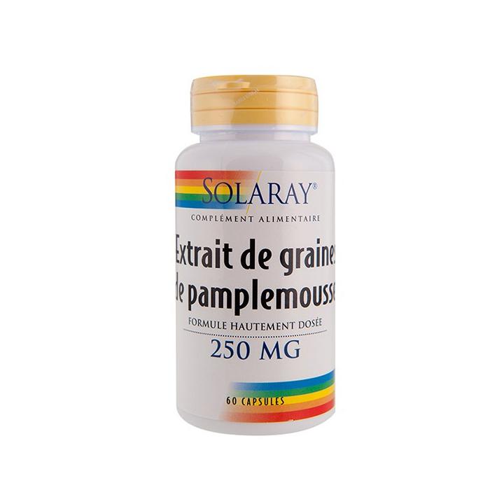 Extrait De Graines De Pamplemousse 60 Capsules SOLARAY