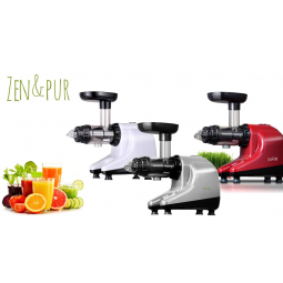 Extracteur de Jus Horizontal Juicer 3 photo des 3 couleurs Rouge, Blanc ou Gris ZEN & PUR