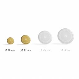 Aimants Thérapeutiques Medimag® Titanium Ø 11 et 15mm AURIS vue des diamètres