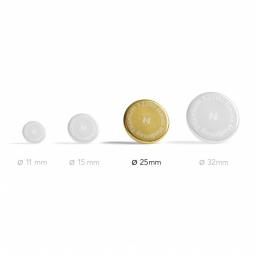 Aimants Thérapeutiques Medimag® Titanium Ø 25mm AURIS vue du diamètre de l'aimant