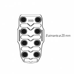 Ceinture Lomboflex Vertical Magnétique AURIS vue des aimants