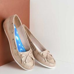 Semelles Magnétiques Gel Bleu AURIS vue dans chaussure