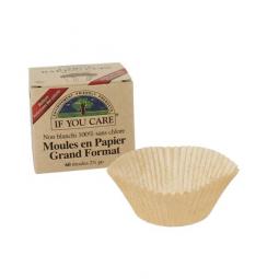 Moules En Papier Non Blanchi 100% Sans Chlore X 60 IF YOU CARE