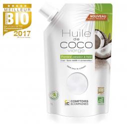 Huile De Coco Vierge Bio 1l COMPTOIRS ET COMPAGNIES