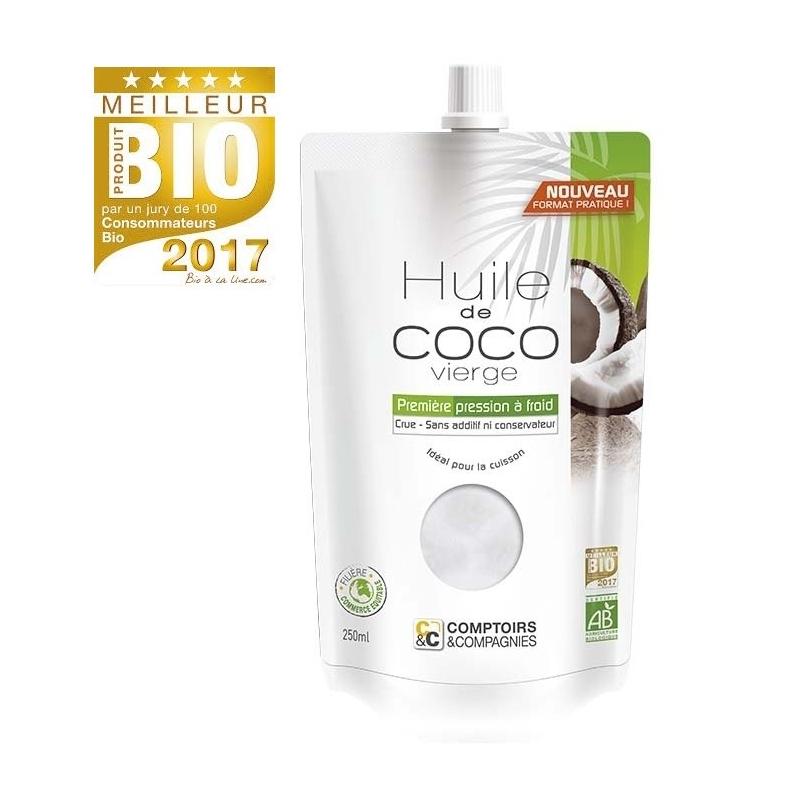 Huile De Coco Vierge Bio 250ml COMPTOIRS ET COMPAGNIES