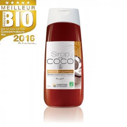 Sirop De Fleurs De Noix De Coco Bio 250ml COMPTOIRS ET COMPAGNIES