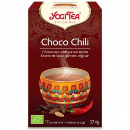 Infusion Aux Epices Choco Chili Bio 17 Sachets 2,2g YOGI TEA