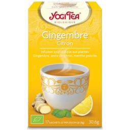 Infusion Aux Plantes Gingembre Citron Bio 17 Sachets 1,8g YOGI TEA