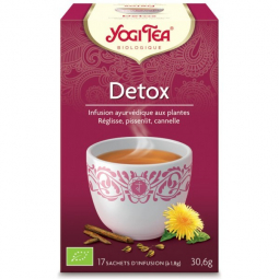Infusion Aux Plantes Detox Bio 17 Sachets 1,8g YOGI TEA
