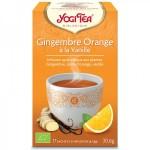 Vente Infusion Aux Plantes Gingembre Orange Vanille Bio 17 Sachets 1,8g YOGI TEA
