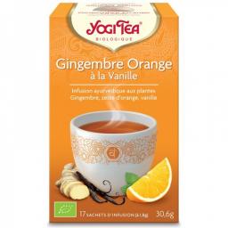 Infusion Aux Plantes Gingembre Orange Vanille Bio 17 Sachets 1,8g YOGI TEA