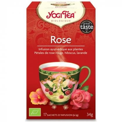 Infusion Aux Plantes Rose Bio 17 Sachets 2g YOGI TEA