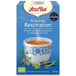 Infusion Aux Plantes Profonde Respiration Bio 17 Sachets 1,8g YOGI TEA