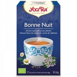 Infusion Aux Plantes Bonne Nuit Bio 17 Sachets 1,8g YOGI TEA