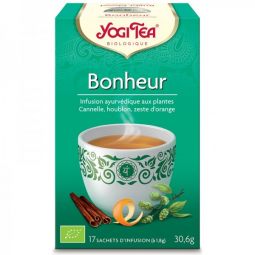 Infusion Aux Plantes Bonheur Bio 17 Sachets 1,8g YOGI TEA