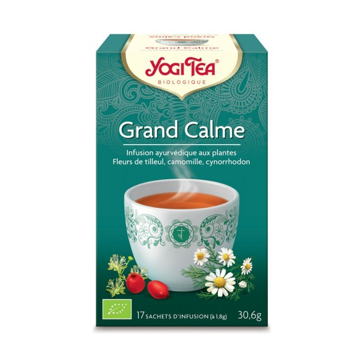 Infusion Aux Plantes Grand Calme Bio 17 Sachets 1,8g YOGI TEA