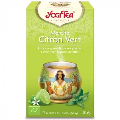 Infusion Aux Plantes Menthe Citron Vert Bio 17 Sachets 1,8g YOGI TEA