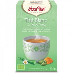 Infusion Aux Plantes Thé Blanc à l'Aloe Vera Bio 17 Sachets 1,8g YOGI TEA