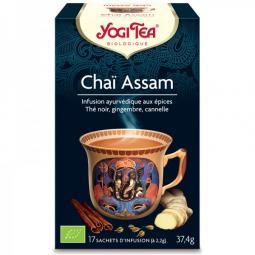 Infusion Thé Noir Chaï Assam Bio 17 Sachets 2,2g YOGI TEA