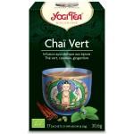 Vente Infusion Thé Verts Chaï Vert Bio 17 Sachets 1,8g YOGI TEA