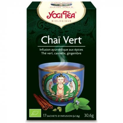Infusion Thé Verts Chaï Vert Bio 17 Sachets 1,8g YOGI TEA