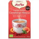 Vente Thé Noirs Assam Canneberge Hibiscus Bio 17 Sachets 1,8g YOGI TEA