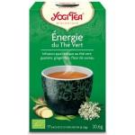 Vente Thé Vert Énergie du Thé Vert Bio 17 Sachets 1,8g YOGI TEA