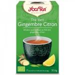 Vente Thé Vert Gingembre Citron Bio 17 Sachets 1,8g YOGI TEA