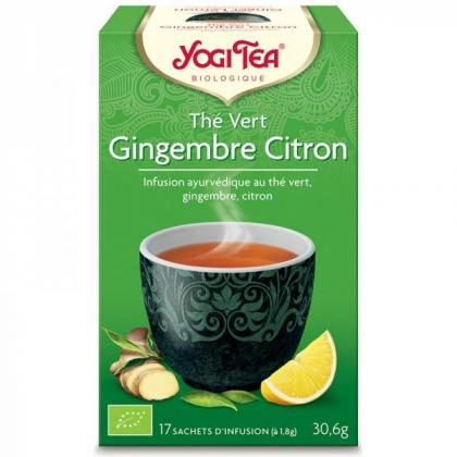 Thé Vert Gingembre Citron Bio 17 Sachets 1,8g YOGI TEA