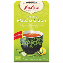 Thé Vert Matcha Citron Bio 17 Sachets 1,8g YOGI TEA