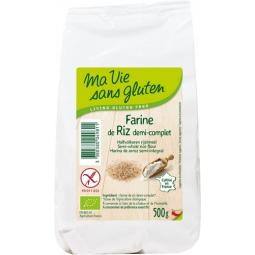 Farine De Riz Demi Complète Bio 500g MA VIE SANS GLUTEN