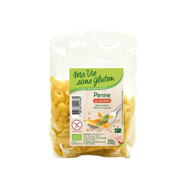Penne Au Quinoa Bio 250g MA VIE SANS GLUTEN