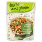 Vente Plat Cuisiné De Lentilles Soja Et Duo De Céréales Bio 220g MA VIE SANS GLUTEN