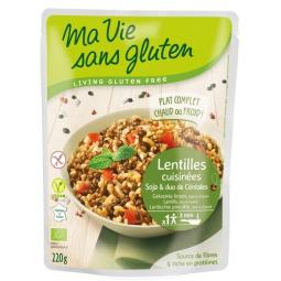 Plat Cuisiné De Lentilles Soja Et Duo De Céréales Bio 220g MA VIE SANS GLUTEN
