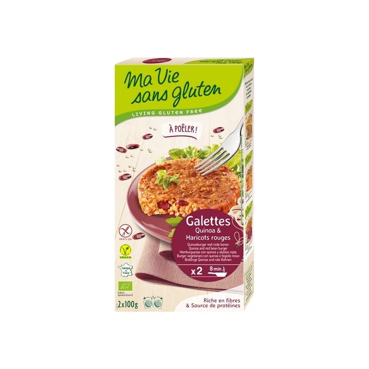 Galettes Quinoa & Haricots Rouges Bio 2x100g MA VIE SANS GLUTEN
