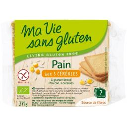 Pain Aux 3 Céréales Bio 375g MA VIE SANS GLUTEN