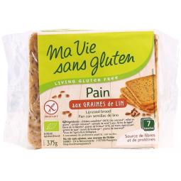 Pain Aux Graines De Lin Bio 375g MA VIE SANS GLUTEN