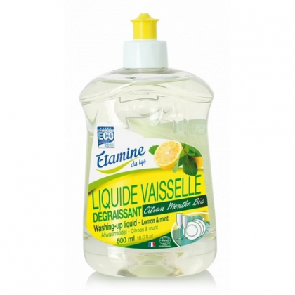 Liquide Vaisselle Citron Menthe 500ml ETAMINE DU LYS - Belvibio