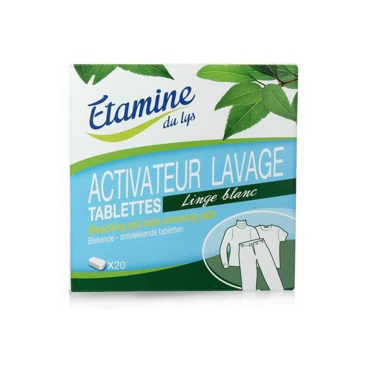 Activateur Linge Blanc 20 Tablettes ETAMINE DU LYS