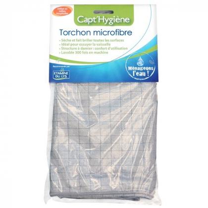 Torchon Microfibre Muti-usages CAPT'HYGIENE