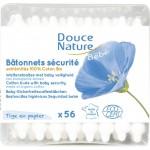 Vente Cotons Tige 60 Bâtonnets Oreilles Sécurité Bébé DOUCE NATURE