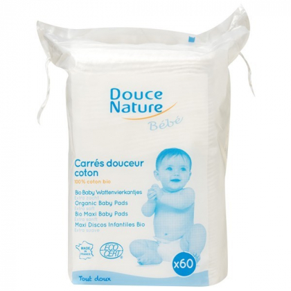 Carrés Douceur Coton Bio 60 Pièces DOUCE NATURE