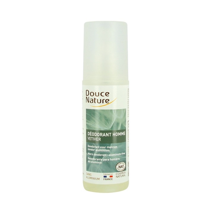 Déodorant Spray Homme Vetiver Bio 125m DOUCE NATURE