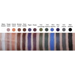 Crayon Yeux Noir Charbon Bio AVRIL palette couleurs