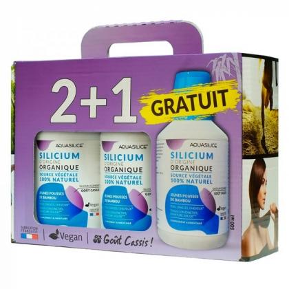 Silicium Organique Source Végétale 3x500ml AQUASILICE 2 +1 Gratuit