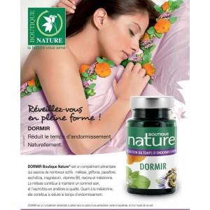 Vente Dormir + Mélatonine 60 ou 180 Gélules BOUTIQUE NATURE